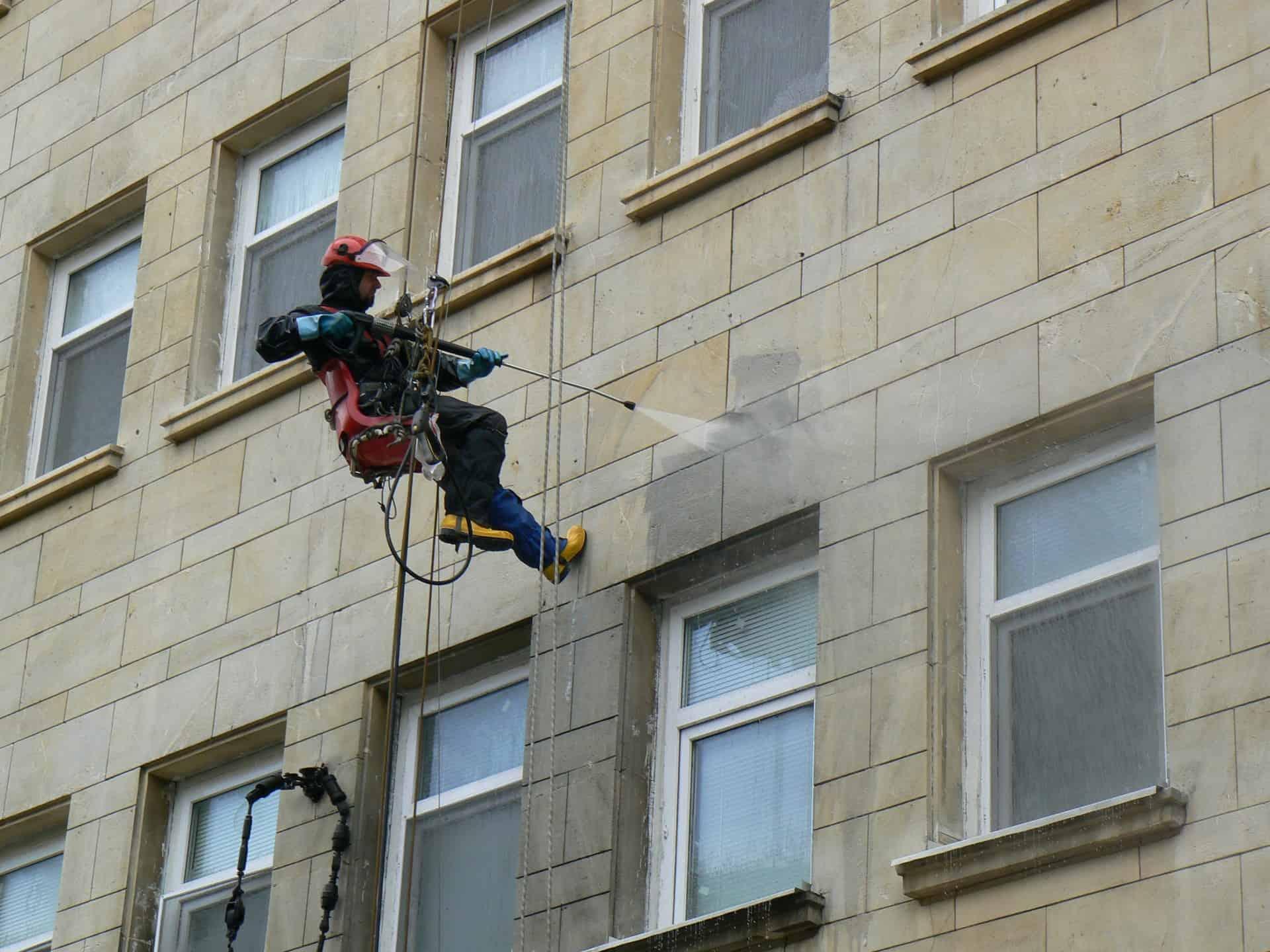 Fassadenreinigung und Imprägnierung industriekletter Verfahren 5