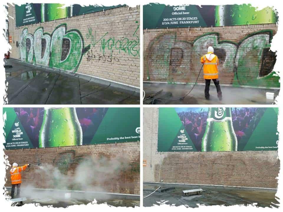 Graffitirentfernung-Klinker-Düsseldorf