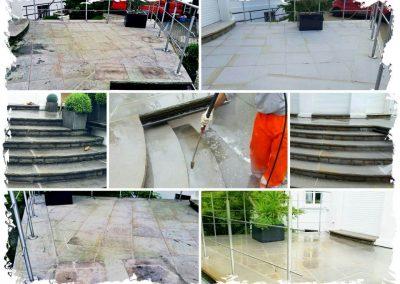 Terrassenreinigung und Hydrophobierung Naturstein in Essen