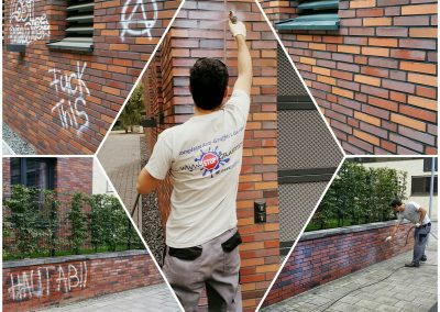 Graffitientfernung und Antigraffiti Klinker Köln