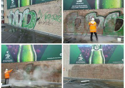 Graffitientfernung Klinker Düsseldorf
