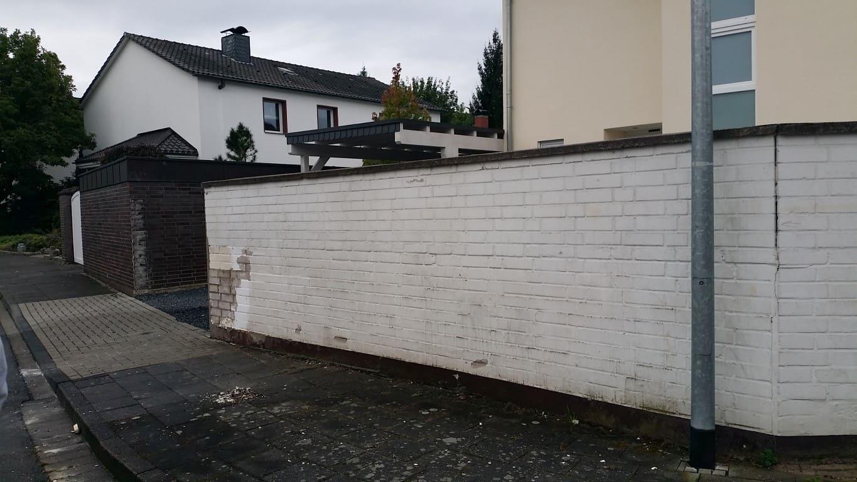 Klinkermauer abbeizen und Graffitischutz Siegburg 1
