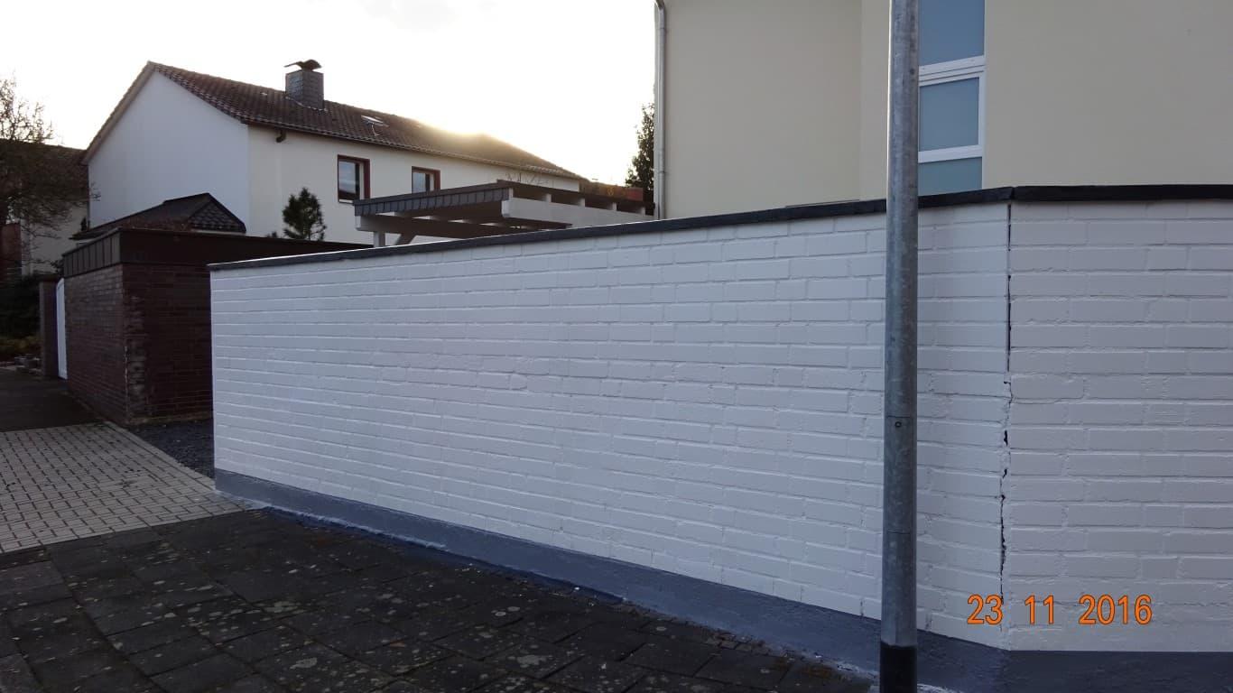 Klinkermauer abbeizen und Graffitischutz Siegburg 13