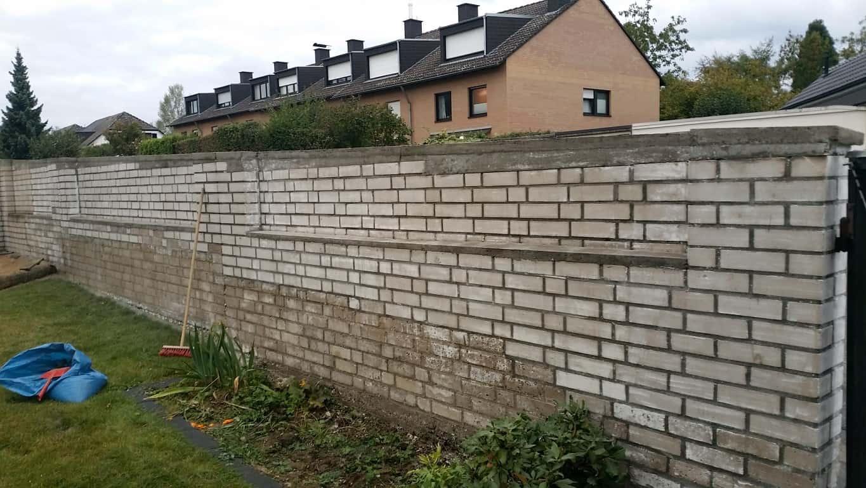 Klinkermauer abbeizen und Graffitischutz Siegburg 16