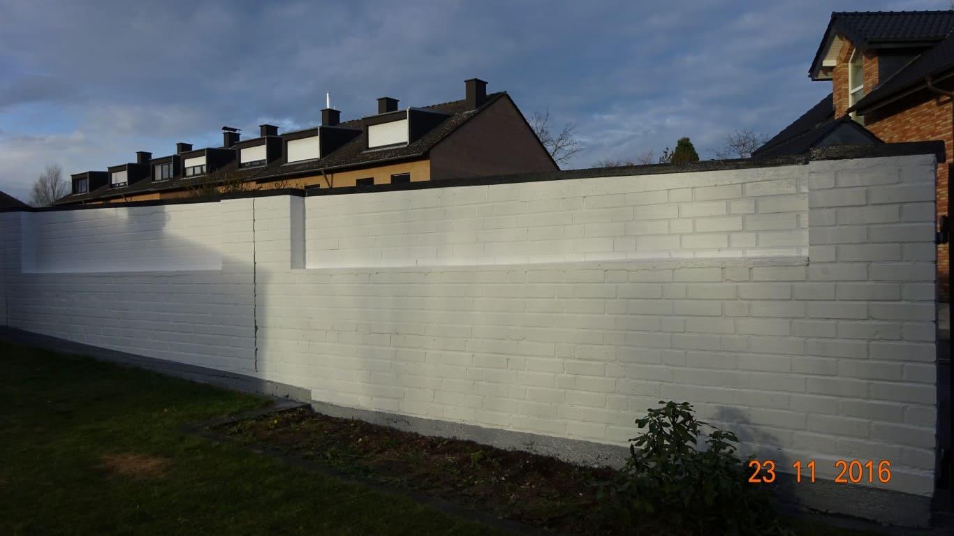 Klinkermauer abbeizen und Graffitischutz Siegburg 17
