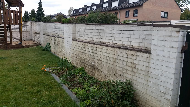 Klinkermauer abbeizen und Graffitischutz Siegburg 3