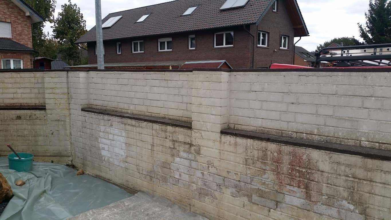 Klinkermauer abbeizen und Graffitischutz Siegburg 5