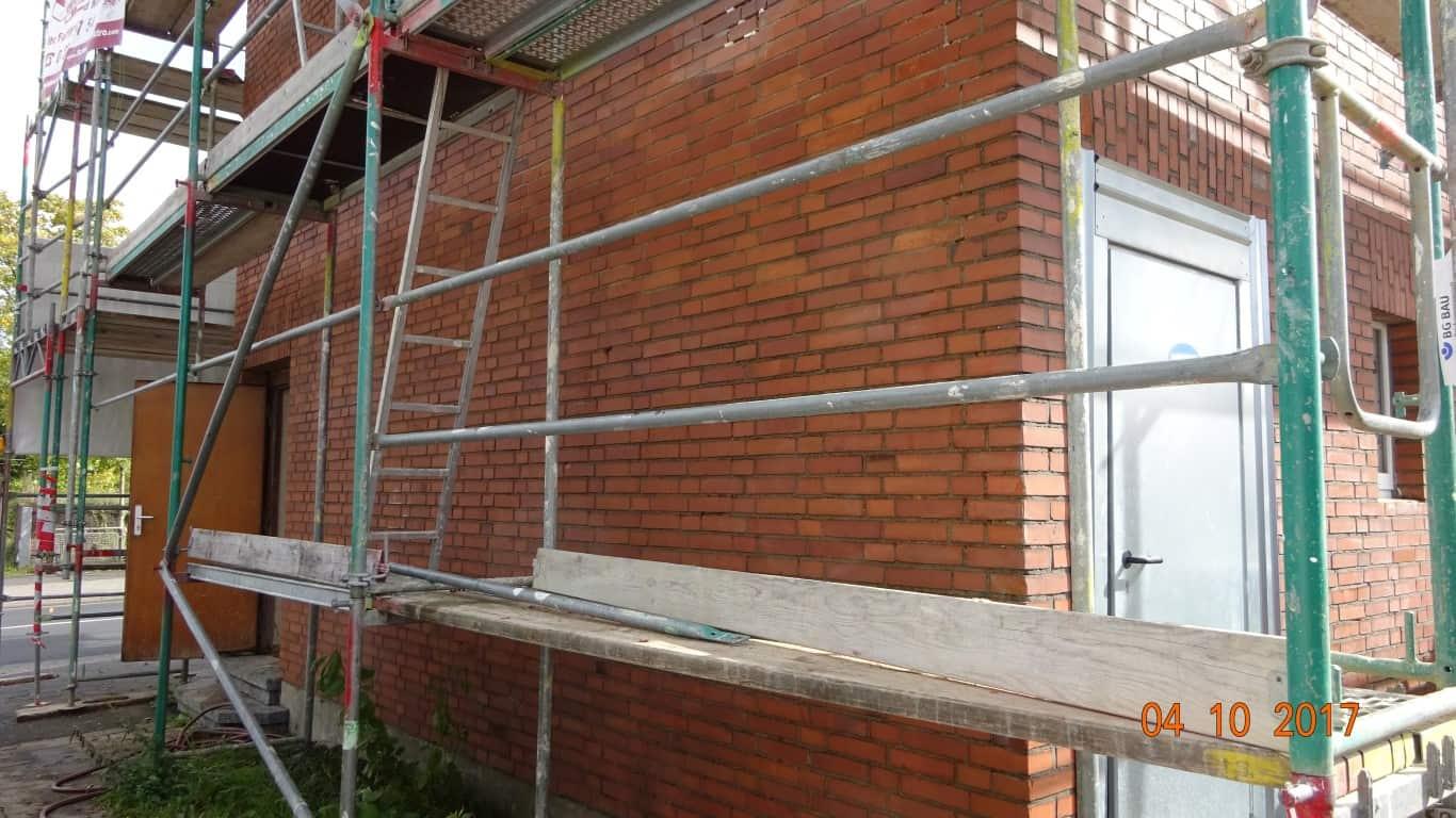 Stopgraffiti Graffitientfernung Fassadenreinigung und Graffitischutz Klinkerfassade 11