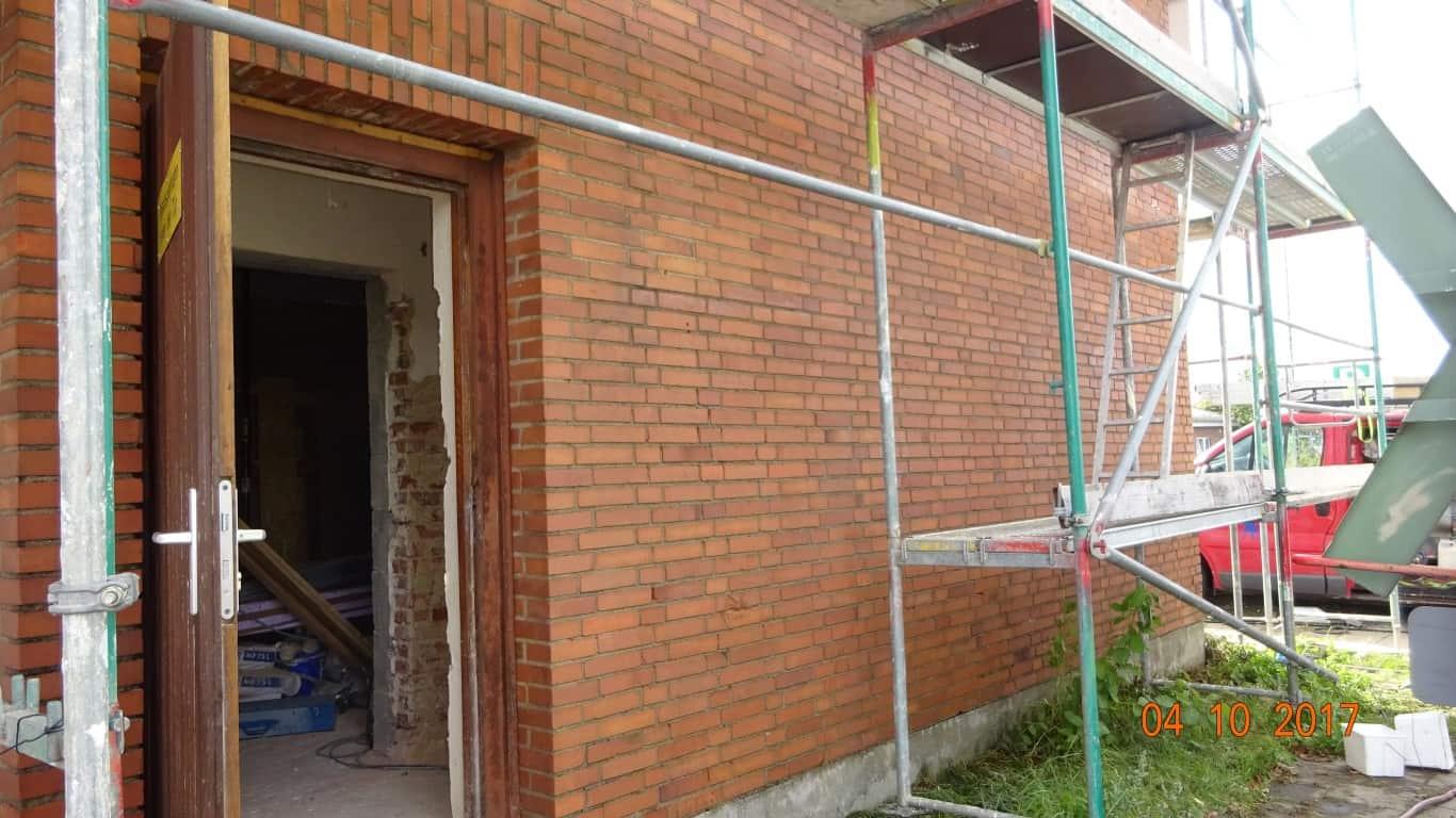 Stopgraffiti Graffitientfernung Fassadenreinigung und Graffitischutz Klinkerfassade 12