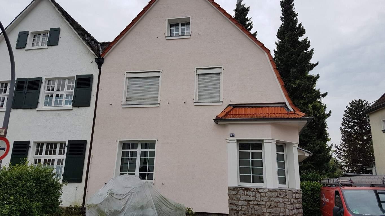 Fassadenreinigung mit Teleskoplanze und Langzeitschutz Imprägnierung in Köln (13)