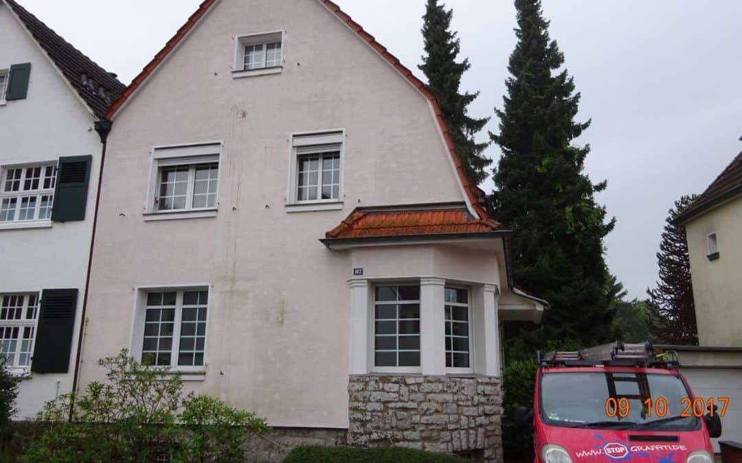 Fassadenreinigung mit Teleskoplanze und Langzeitschutz Imprägnierung in Köln
