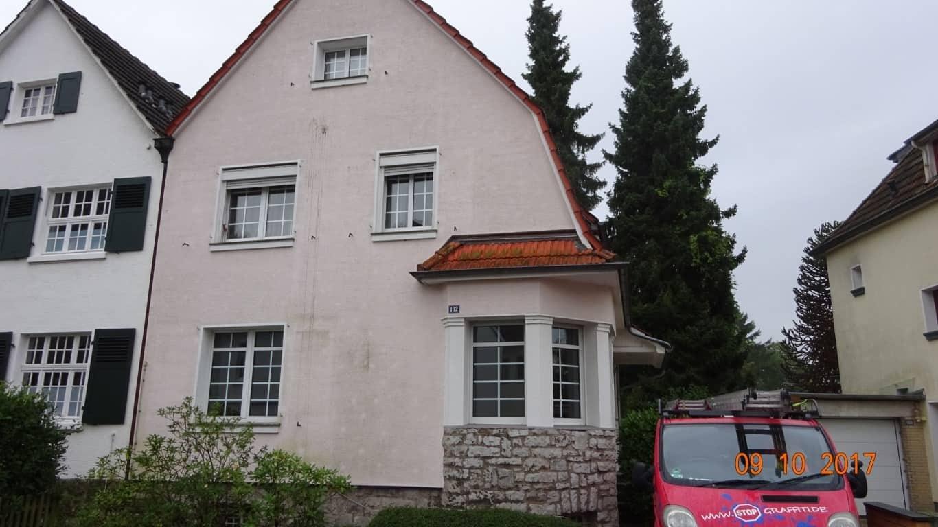 Fassadenreinigung mit Teleskoplanze und Langzeitschutz Imprägnierung in Köln (2)