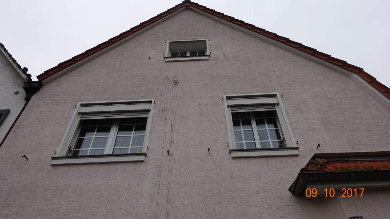 Fassadenreinigung mit Teleskoplanze und Langzeitschutz Imprägnierung in Köln (5)