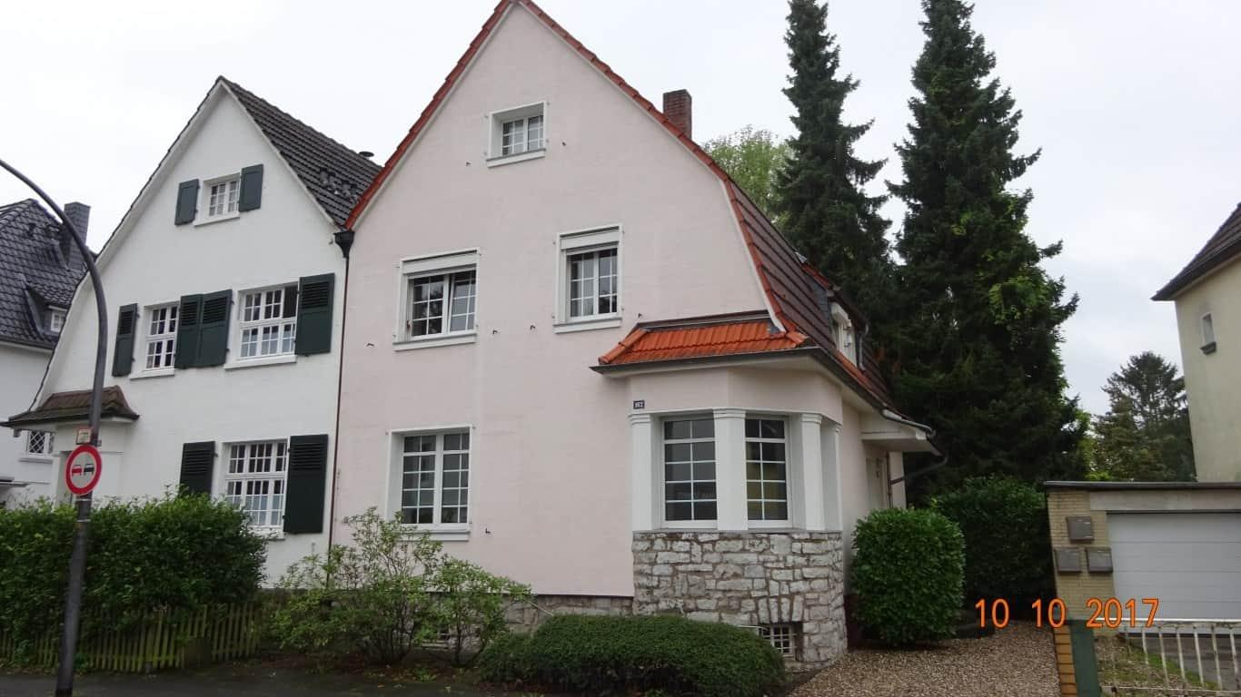 Fassadenreinigung mit Teleskoplanze und Langzeitschutz Imprägnierung in Köln (7)