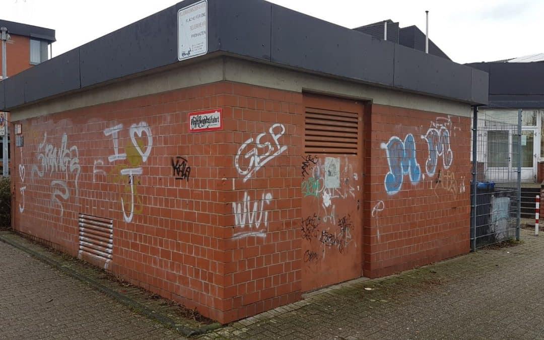 Graffitientfernung und Graffitischutz auf Klinker in Bergisch Gladbach
