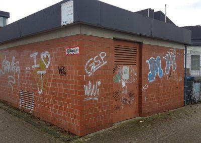 Graffitientfernung und Anti – Graffitischutz Klinker in Bergisch Gladbach