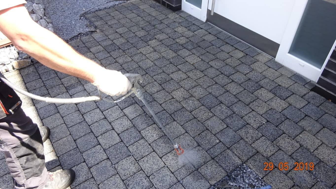 Pflasterreinigung und Wasserabweisende Nano-Imprägnierung Köln (17)