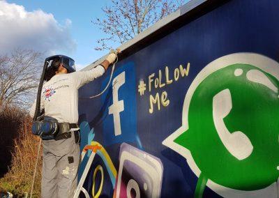 Topgraffiti Auftragsgraffiti mit Graffitischutz