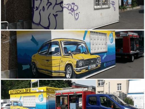 Topgraffiti Fassadengestaltung und Graffitischutz