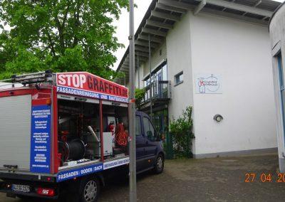 Fassadenreinigung und Langzeitschutz – Kita Hosenmätze in Bergisch Gladbach
