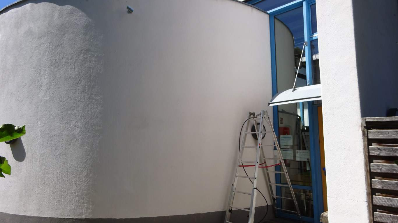 Stopgraffiti Fassadenreinigung und Langzeitschutz Kita Bergisch Gladbach (3)