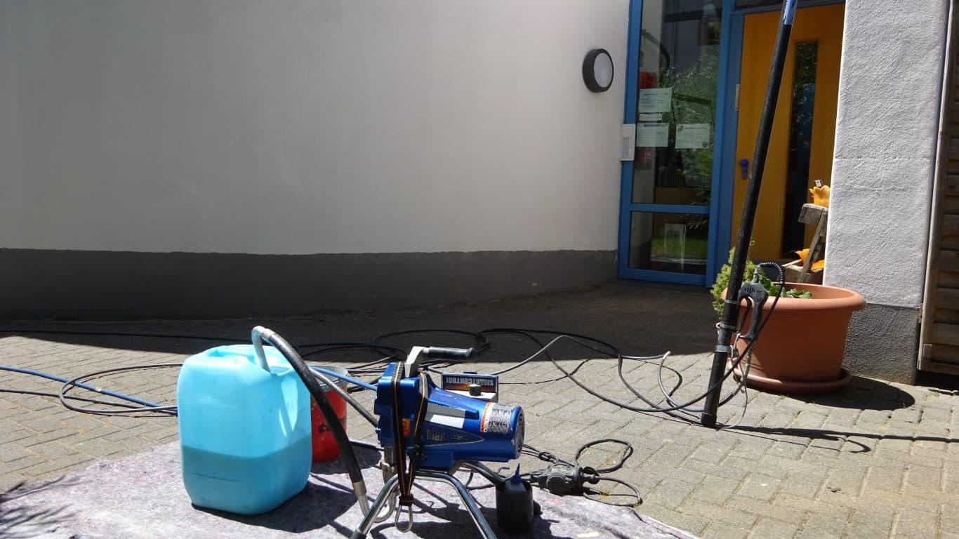 Stopgraffiti Fassadenreinigung und Langzeitschutz Kita Bergisch Gladbach (7)